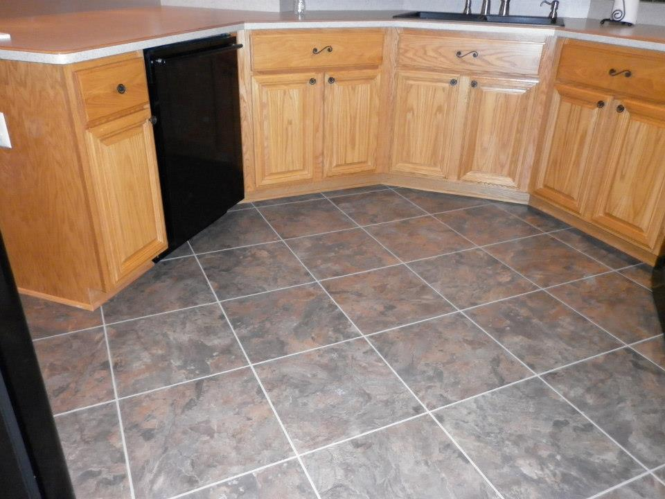 floor linoleum for kitchens luxury vinyl tile installed in brownstown jabro carpet 7248